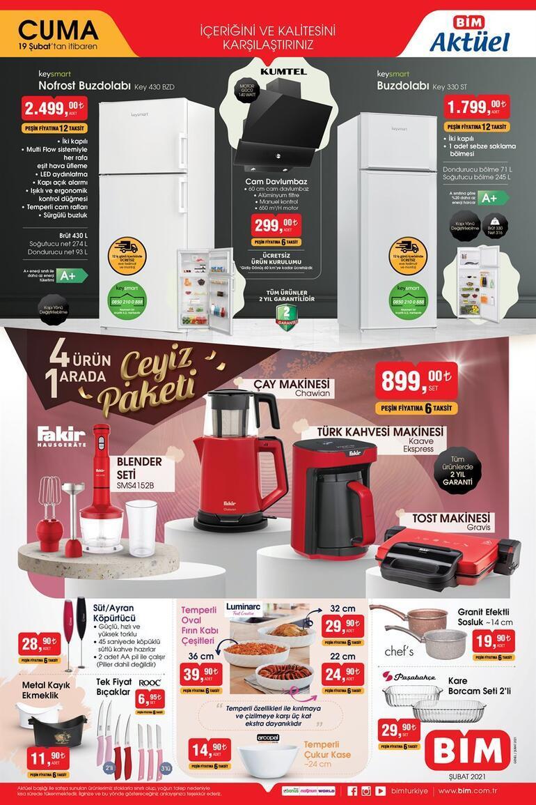BİMde bugün hangi indirimli ürünler var 19 Şubat BİM aktüel ürünler kataloğu (Mağaza açılış ve kapanış saatleri)