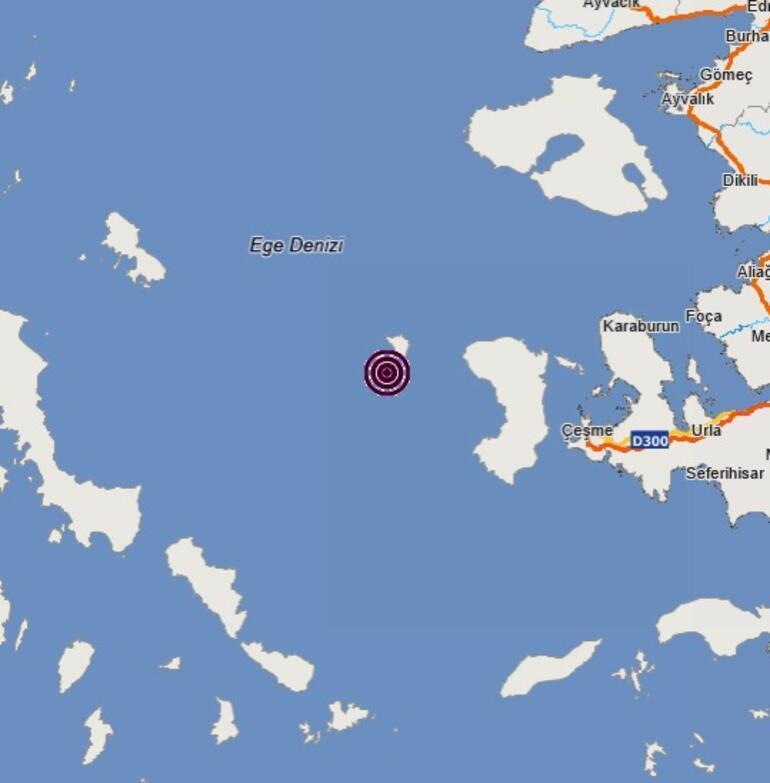 Son dakika... İzmirde 3.6 büyüklüğünde deprem