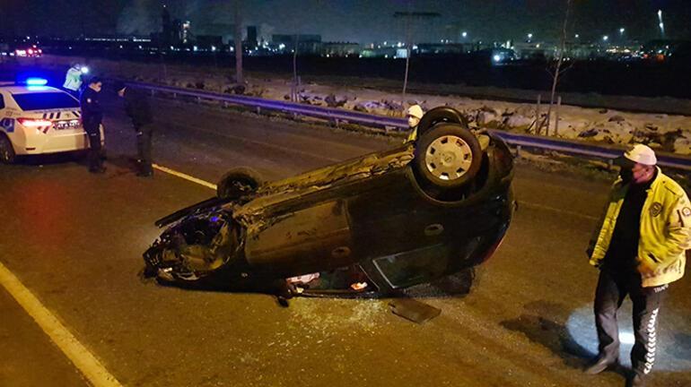 Kocaelide zincirleme kaza 2 kişi yaralandı