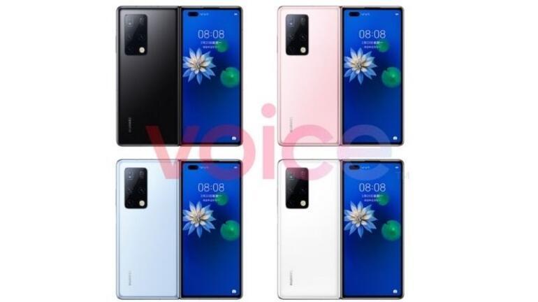 Huawei Mate X2 için görseller ortaya çıktı: Beklenen tasarım