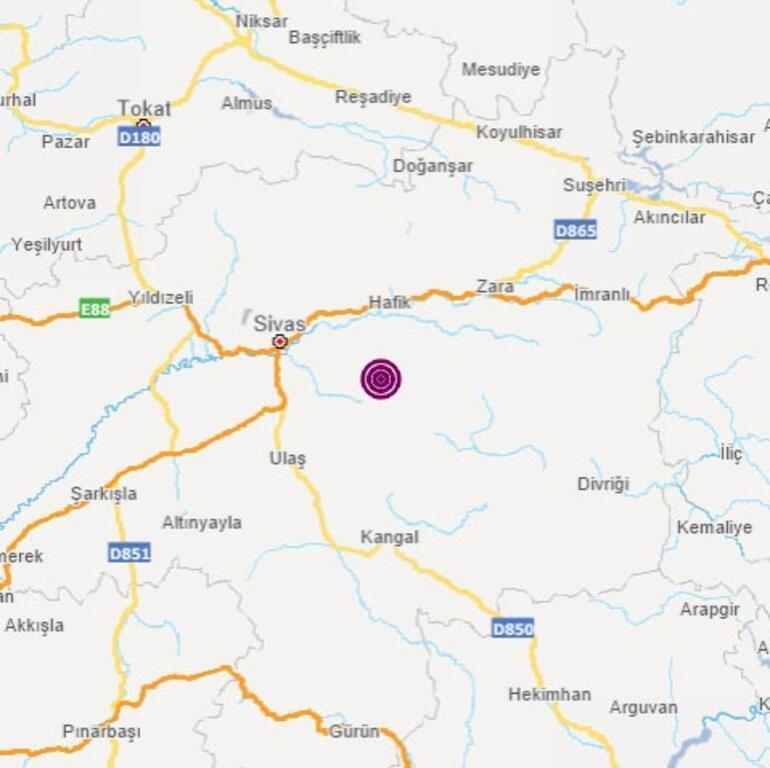 Son dakika Sivasta korkutan deprem: Büyüklüğü...