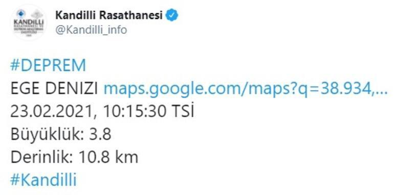 Son dakika... Ege Denizinde deprem AFAD ve Kandilli Rasathanesinden peş peşe açıklamalar