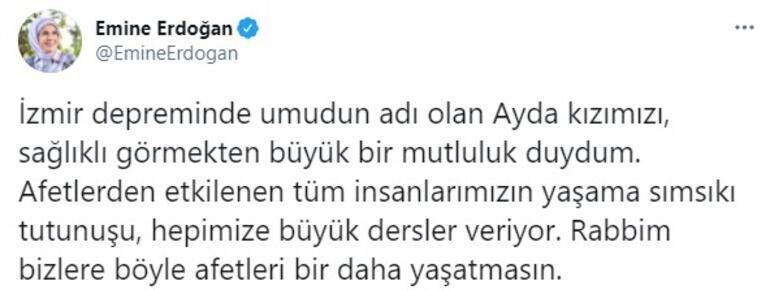 Emine Erdoğandan Ayda paylaşımı