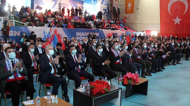 AK Partili Hamza Dağ, partisinin Ardahan kongresinde konuştu