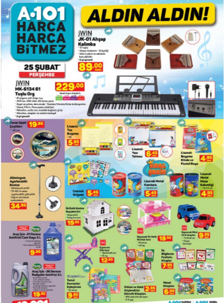 a101 aktüel katalog   25 Şubat A101 hangi ürünler indirimde
