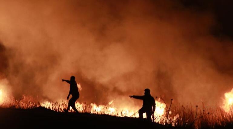 Burdur Gölü kenarındaki sazlık alanda korkutan yangın