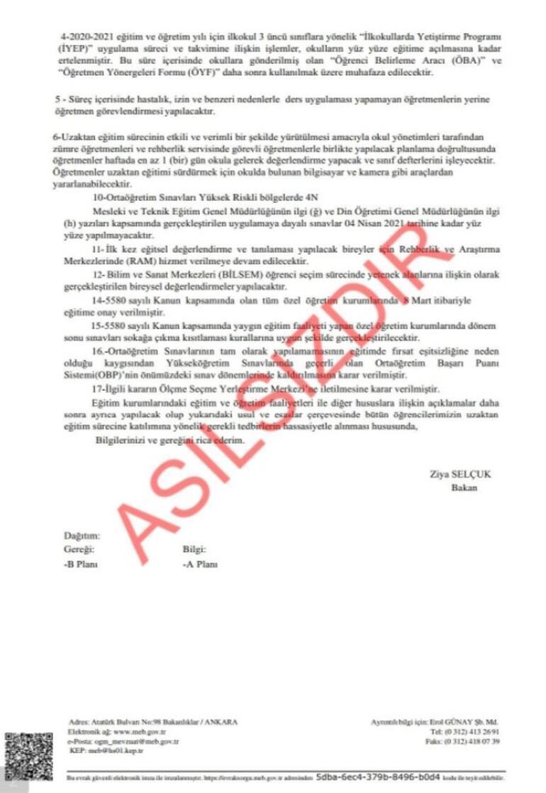 Son dakika... MEBden yeni yüz yüze eğitim belgesi paylaşımı: Asılsızdır