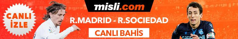 Real Madrid - Real Sociedad maçı Tek Maç ve Canlı Bahis seçenekleriyle Misli.com'da