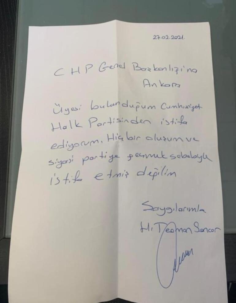 Son dakika... Teoman Sancarın istifası sonrası CHPden ilk açıklama
