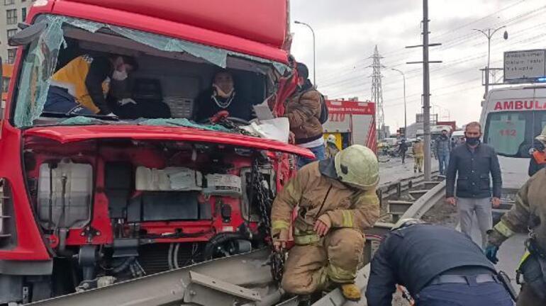 Son dakika... TEM Bağlantı yolunda kaza 5 kişi yaralandı