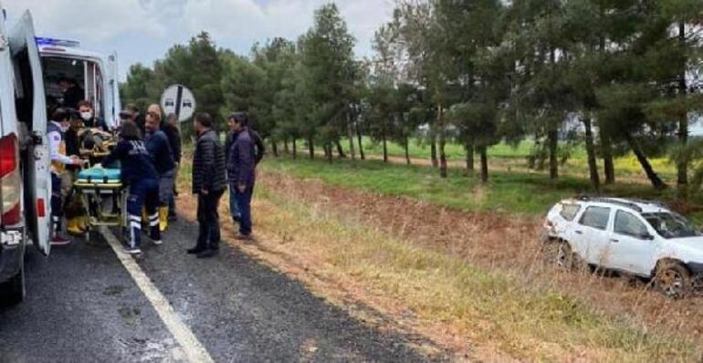 HDP'li kadın yöneticilerin otomobili devrildi: 4 yaralı
