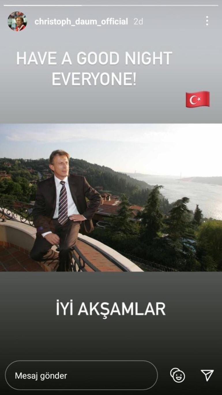 Son dakika - Christoph Daumdan İstanbul paylaşımı