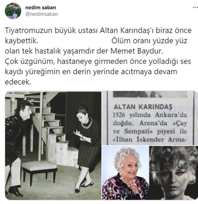 Son Dakika: Usta sanatçı Altan Karındaş hayatını kaybetti