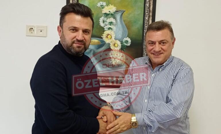 Çaykur Rizespor Başkanı Kartal, Bülent Uygun ile el sıkıştı
