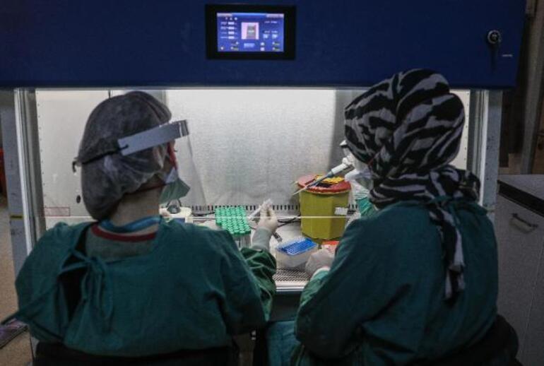 İstanbulun en büyük koronavirüs test laboratuvarı görüntülendi