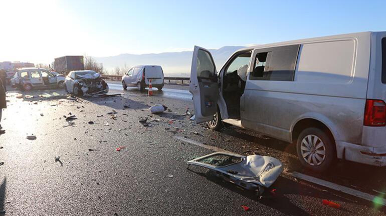 Anadolu Otoyolunda zincirleme trafik kazası: 4 yaralı