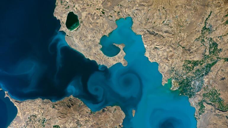 Astronotlar Van Gölünü fotoğrafladı