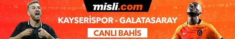 Kayserispor - Galatasaray maçı Tek Maç ve Canlı Bahis seçenekleriyle Misli.com'da