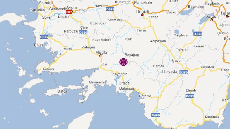 Son dakika: Muğlanın Menteşe ilçesinde 4,2 büyüklüğünde deprem