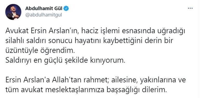 Bakan Gül, avukata saldırıyı kınadı