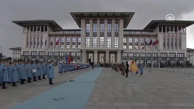 Bosna Hersek heyeti Ankarada Cumhurbaşkanı Erdoğan karşıladı