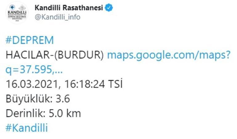 Son dakika... Burdurda deprem AFAD ve Kandilli Rasathanesinden açıklama geldi