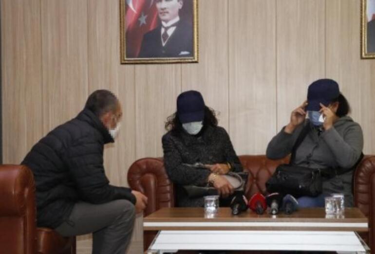İkna yoluyla teslim olan 2 PKKlı ailesiyle buluştu