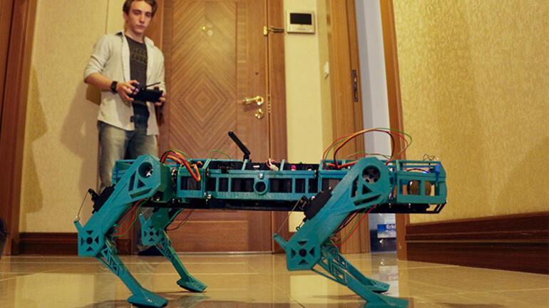 Eskişehirli öğrenci Boston Dynamics ilhamlı robot köpek geliştirdi