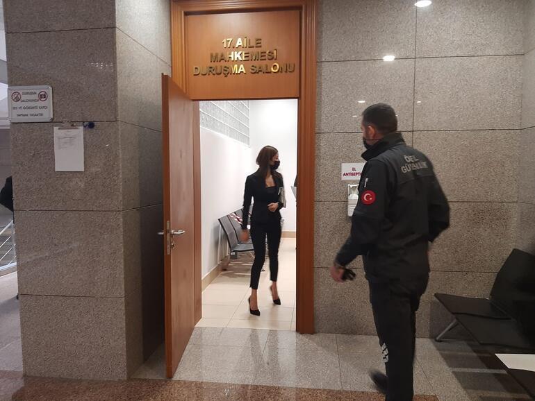 Özcan Deniz ve Feyza Aktan velayet davasına katıldı