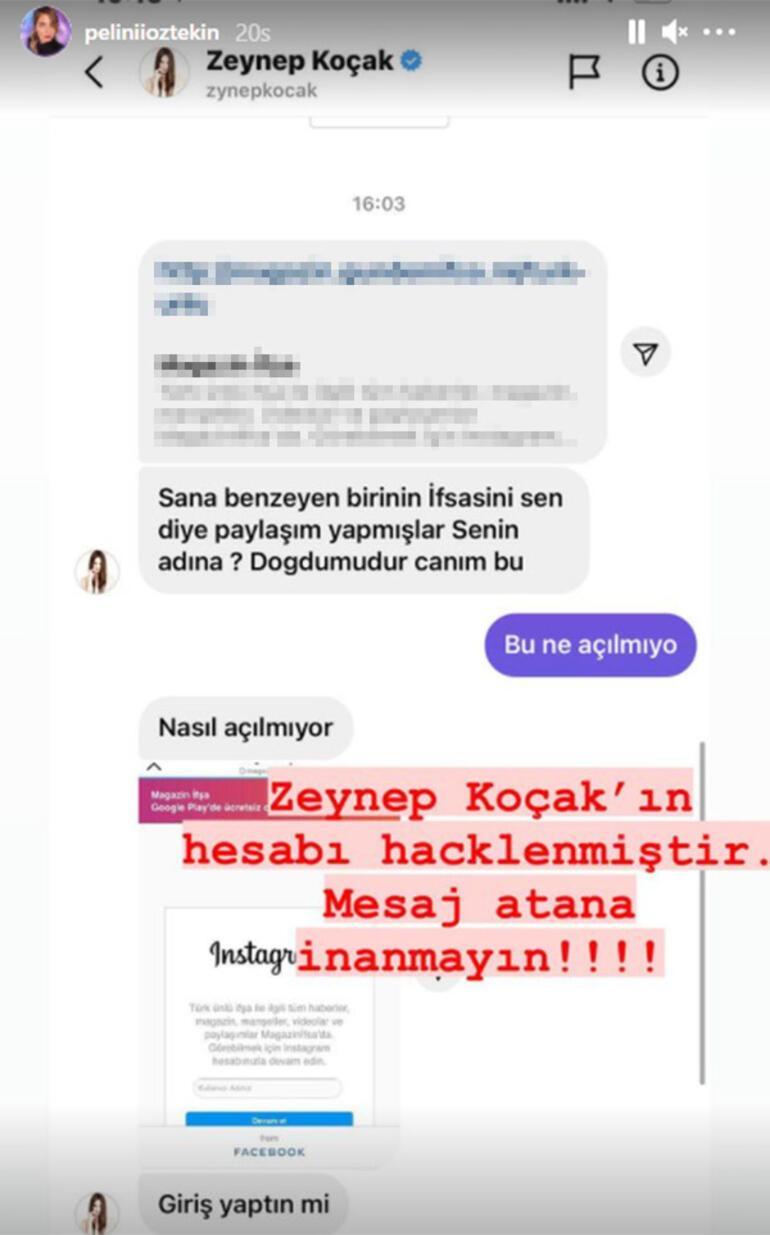 Zeynep Koçakın sosyal medya hesabı hacklendi