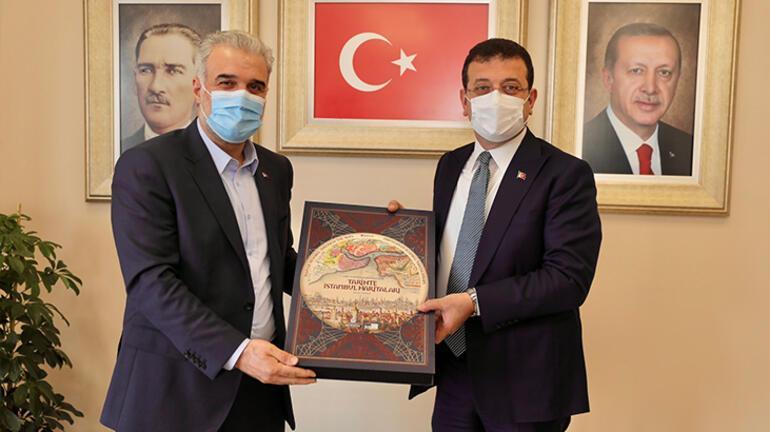 İmamoğlundan AK Parti İstanbul İl Başkanı Kabaktepeye ziyaret