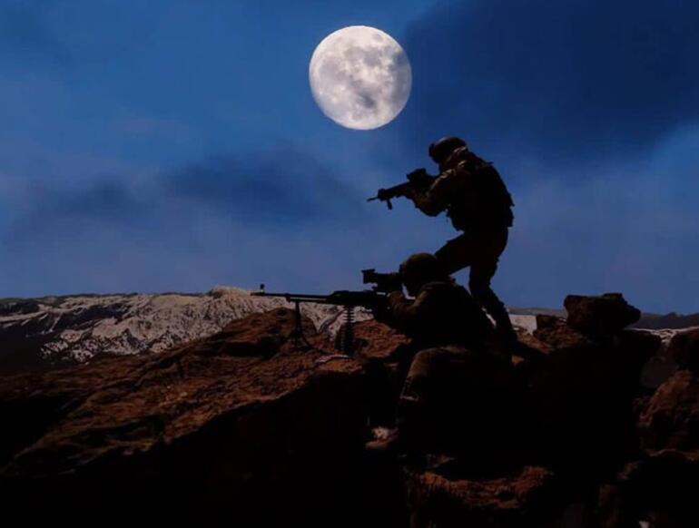 Bakanlık paylaştı Süper Ay ışığında terörle mücadele