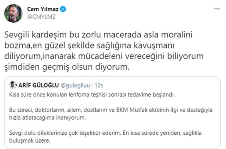 Cem Yılmazdan Arif Güloğluna destek