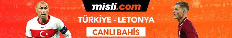 Türkiye-Letonya maçı Tek Maç ve Canlı Bahis seçenekleriyle Misli.com'da