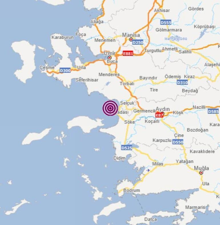 Son dakika Aydında 3.7 büyüklüğünde deprem