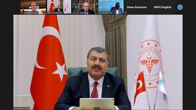 Son dakika: Bakan Koca Türkiyenin başarısını dünyaya anlattı 45 günde tamamladık