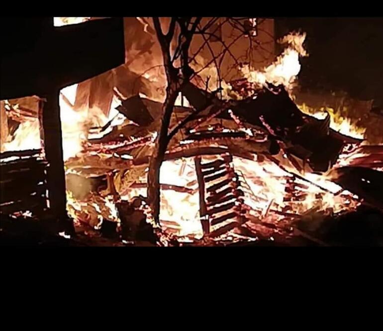 Artvinde korkutan yangın 7 ev kullanılamaz hale geldi