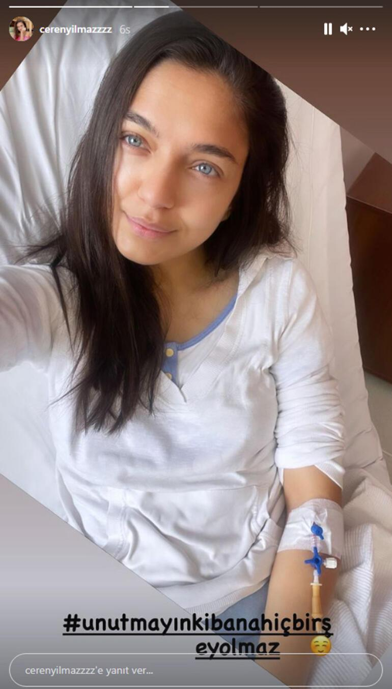 Korona virüse yakalanan Ceren Yılmaz hastaneye kaldırıldı