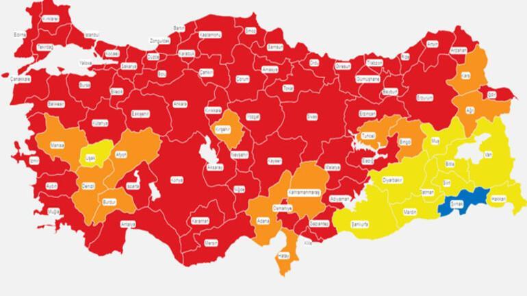 Türkiye koronavirüs risk haritası: 2 Nisan düşük, orta, yüksek ve çok yüksek riskli iller