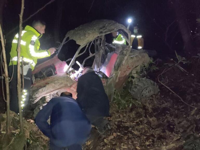 Arazi aracı devrildi: 1 ölü, 1 yaralı