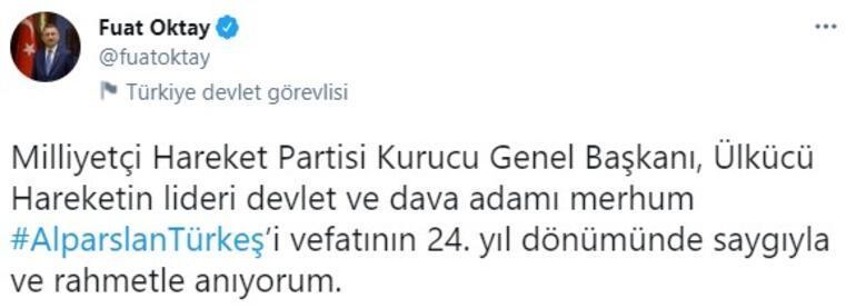 Cumhurbaşkanı Yardımcısı Oktay, Alparslan Türkeş paylaşımı