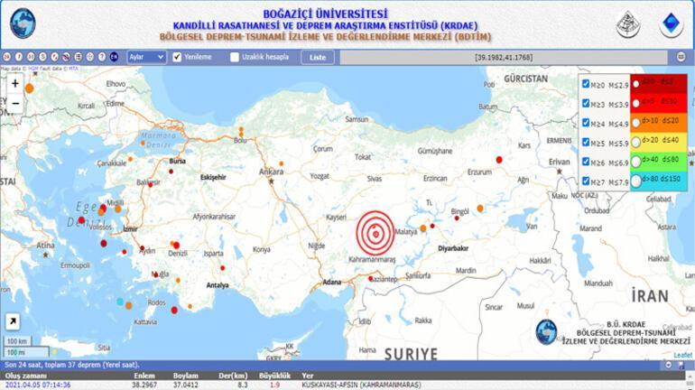 Son Dakika Depremler: AFAD - Kandilli Rasathanesi deprem listesi - Deprem mi oldu