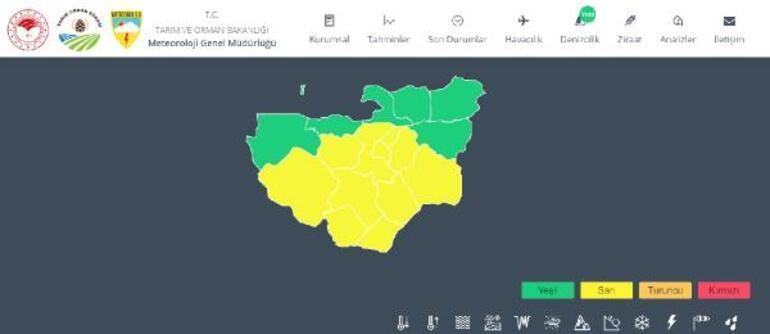 Son dakika: Bursada sarı alarm Yarın saat 12.00de başlıyor