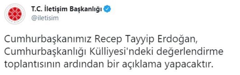 Son dakika... Beştepede kritik toplantı Cumhurbaşkanı Erdoğan açıklama yapacak
