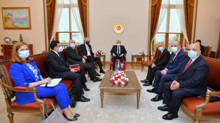 TBMM Başkanı Mustafa Şentop, BM 75. Genel Kurul Başkanı Bozkırı kabul etti