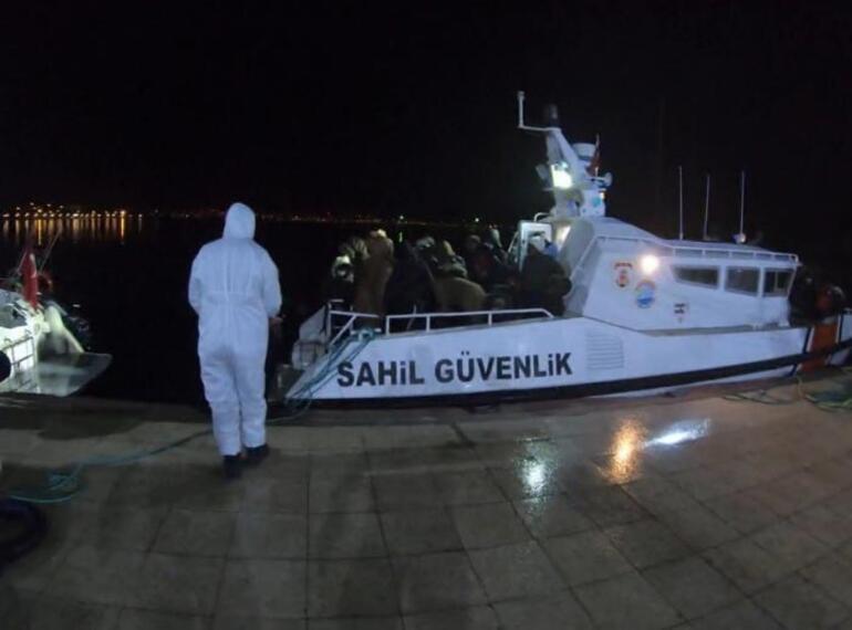 Türk kara sularına geri itilen 68 sığınmacı kurtarıldı