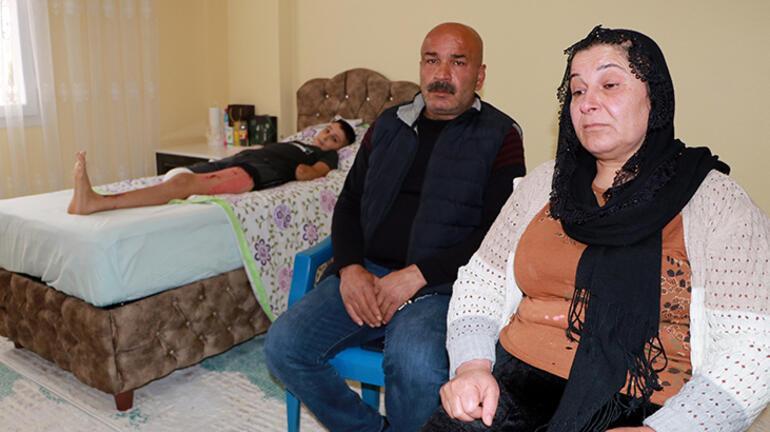 Tellere takılan uçurtma hayatını kabusa çevirdi Furkan ve ailesi yardım bekliyor