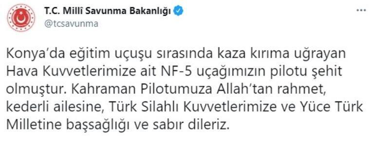 Son dakika haber... Konyada askeri gösteri uçağı düştü MSB acı haberi verdi