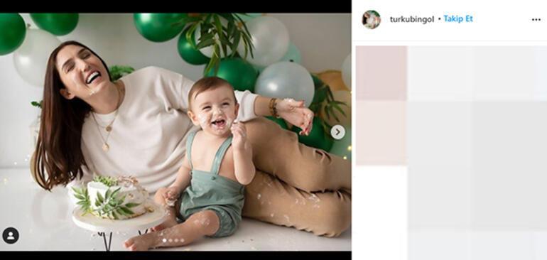 Türkü Bingöl oğlunun yeni yaşını kutladı