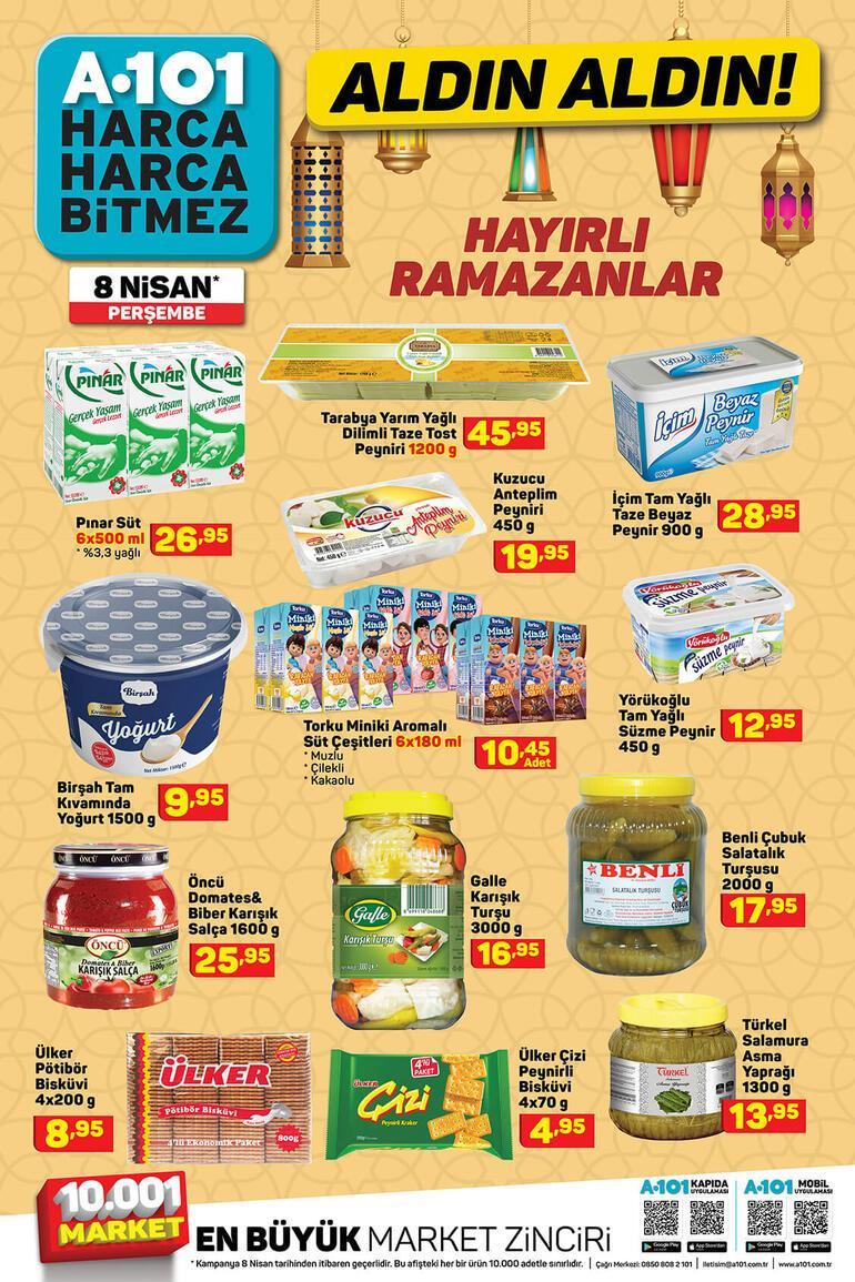 A101 aktüel ürünler kataloğunda yer alan ürünler satışta 8 Nisan A101 aktüel ürünler kataloğu...